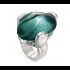 675aac989a36 Uno de 50 Fatal Attraction Green Ring. Green RingsFashion EdgyFashion  RingsWomens ...