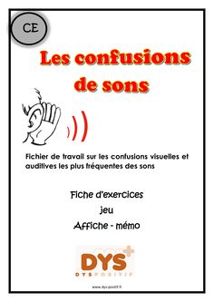 Confusion des sons - Caty Debevre - This Teaching Kids, Teaching Resources, Elementary Teaching, Bbc Schools, Reading Games, French Resources, Trouble, French Lessons, Learn French