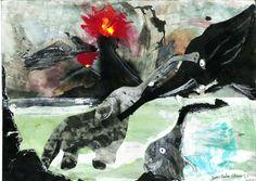 """Dibujo a partir del azar y de la mancha. """"Colección de bichejos"""" Luis Carlos Cabrera. 1º Bachillerato Artístico. IES. Usandizaga 2014"""
