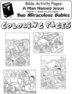 My Little House: A Man Named Jesus - Christmas comic and activity pages Christmas Comics, Christmas Jesus, Church Activities, Bible Activities, Child Sponsorship, Baby Coloring Pages, Sunday School Kids, Bible For Kids, Bible Crafts
