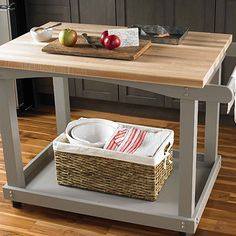 From Homedepot.ca · Short On Counter Space? This #DIY Rollable Kitchen Cart  Could Be The Perfect Solution