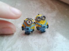 Minion earrings - Despicable me by nunyArt.deviantart.com on @deviantART