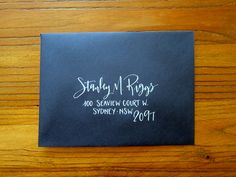 Hand Calligraphy Envelope Addressing - Style