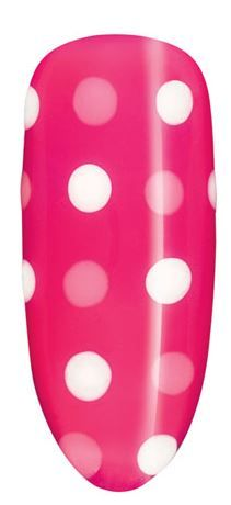 We're feeling pretty in pink polka dots with this summer nail design, created with CND Shellac™ in Pink Bikini, Cream Puff and Gotcha.   Pros - For detailed instructions on how to replicate the look, visit our Web site: http://www.cnd.com/nail-salon-services/nail-art-gallery/daydream