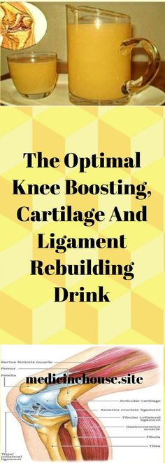 The Optimal Knee Boosting, Cartilage And Ligament Rebuilding Drink – MEDICINE HOUSE