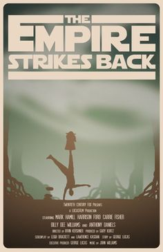 The Empire strikes back. Star Wars Episode V: The Empire Strikes Back by Travis English Best Movie Posters, Minimal Movie Posters, Film Posters, Star Wars Poster, Star Wars Art, Love Movie, I Movie, Harison Ford, The Empire Strikes Back