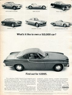 1963 Volvo P1800 Advertising Car and Driver July 1963