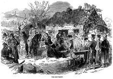 An eviction – loss of house and land resulted in emigration or death.