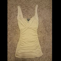 Tan tank top with ruched sides Tan tank top with ruched sides Wet Seal Tops Tank Tops