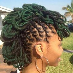 Locs with Money green pedals!!!!