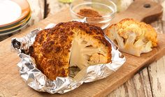 Check out this recipe for Smoke-Roasted Whole Cauliflower!