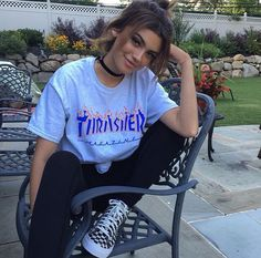 Thrasher Tshirt Melanie Martinez Ariana Grande by CupOfTeeStore Mode Outfits, Grunge Outfits, Casual Outfits, Fashion Outfits, Teen Outfits, Look Fashion, Fashion Killa, Skate Fashion, Looks Style