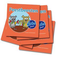Miniboekjes Feestbeesten (om uit te delen tijdens de Kinderboekenweek) http://onderwijsstudio.nl/kinderboekenweek-2014-boekjes-en-lesmateriaal-bestellen/