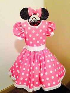 Vestido de lunares rojos Minnie mouse inspirado