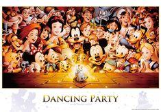 D-2000-614 Tenyo Disney Japan Jigsaw Puzzle Mickey Dancing Party