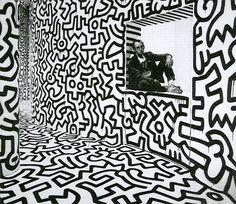 blue-voids:    Dan Fischer - Keith Haring, 2007