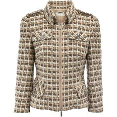 Karen Millen Light Luxe Tweed Jacket ($475) ❤ liked on Polyvore