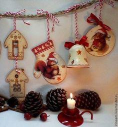 """""""Новогодние зверятки"""" новогодняя подвеска - подарок на новый год,новогодний декор"""