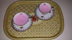 Met roze kaarsvet