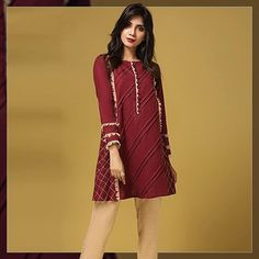 Abdullha Pakistani Fashion Party Wear, Pakistani Dresses Casual, Pakistani Dress Design, Casual Dresses, Kids Dressy Clothes, Stylish Dresses For Girls, Dresses Kids Girl, Ladies Kurti Design, Kurta Designs Women