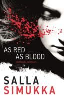 "As Red as Blood (Lumikki Andersson #1) by Salla Simukka, Owen Witesman (Translator.) Pinner writes: ""Book one of the Snow White Trilogy. In the midst of the freezing Arctic winter, Lumikki walks into her school's darkroom and finds a stash of money splattered with someone's blood. She is swept into a whirlpool of dangerous encounters with dirty cops and a notorious drug kingpin as she helps to trace the origin of the cash."""