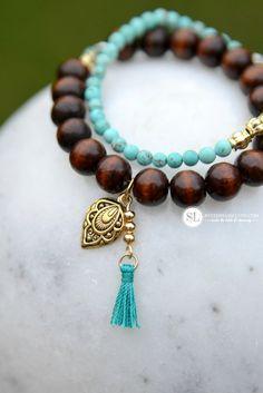 Wooden Bead and Tassel Bracelet DIY #Michaelsmakers