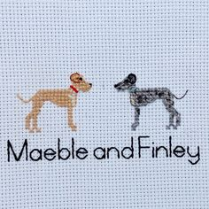 Additional Pet Character | Cross Stitch Family Portrait | Dog | Cat| Second Cotton Anniversary | Engagement | Present | Valentine's | Animal