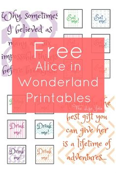 Just in case(: Alice in Wonderland signs and free printables Alice In Wonderland Sign, Alice In Wonderland Birthday, Alice In Wonderland Printables, Alice In Wonderland Decorations, Winter Wonderland, Lila Party, Alice Tea Party, Mad Tea Parties, Mad Hatter Party