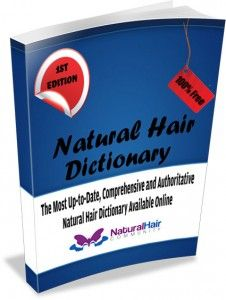 Natural Hair Dictionary that contains most of the terms that hear natural mention on blogs and forums.