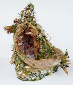 Beautiful!  On Etsy - Awaiting Fae Fairy House Home Natural Dwelling by BloomingGoddess, $349.99
