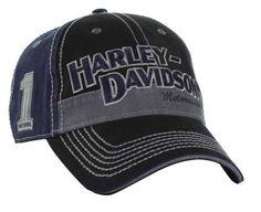 11d9e67b97fe0 Harley Davidson Men s Block H-D Name Baseball Cap