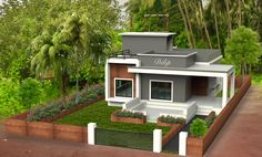 My home in india Simple House Exterior Design, Single Floor House Design, Bungalow House Design, Unique House Design, House Front Design, House Design Photos, Building Elevation, House Elevation, Modern Bungalow House Plans