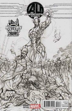 AGE OF ULTRON #1 Midtown Comics Exclusive J Scott Campbell Sketch Variant Mint+