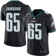 e0913d0ca22 Nike Eagles #65 Lane Johnson Black Men's Stitched NFL Limited Rush Jersey  Lane Johnson,