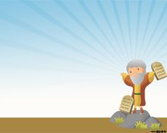 Ten Commandments PowerPoint template - this is a very good Powerpoint presentation template for people who are very religious, is going to do a presentation about religion, or someone who has a religious affiliation.
