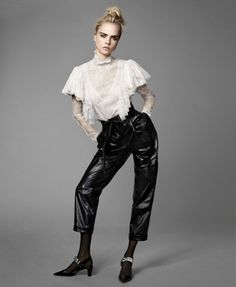 Cara Delevingne Cara Delevingne, Elle Magazine, Leather Pants, Actresses, September, Women, Image, Fashion, Faces