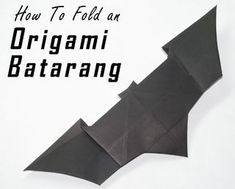 In this Origami lesson I will be teaching you how to fold your very own Batarang, modeled after the one in The Dark Knight trilogy. This is a very simple origami...