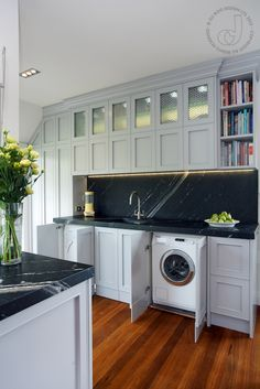 Create Space For All In One Washer Dryer Under The Kitchen Cabinets.