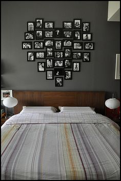 cute idea for picture arrangement on a wall :)