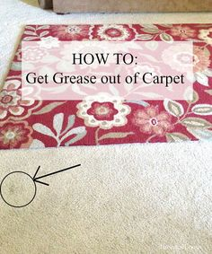 How To Remove Tar Grease And Oil Based Spots From Carpet