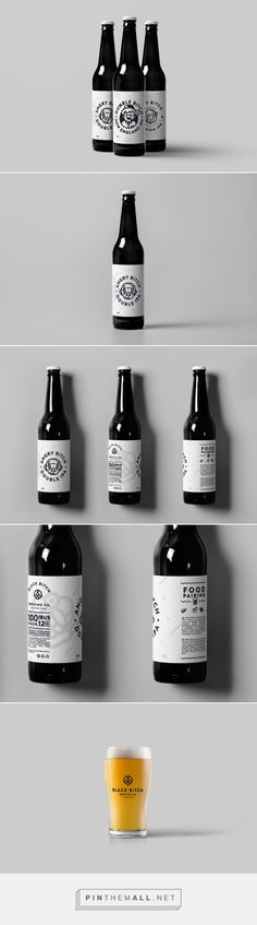 Black Bitch Brewing Co. - Packaging of the World - Creative Package Design Gallery - http://www.packagingoftheworld.com/2017/09/black-bitch-brewing-co.html