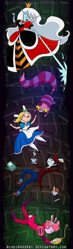 Fiona and cake Alice in wonderland