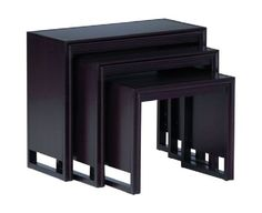 Draycott Nesting Tables - use smallest for meditation room, use the other two nested somewhere else in the apartment.