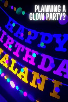 This glow party personalized banner with garlands is UV reflective and fluoresces like crazy under black light. It is a great addition to your glow party! Blacklight Party, Personalized Banners, Glow Party, Name Banners, For Stars, Garlands, Cupcake Toppers, Light Up, My Etsy Shop