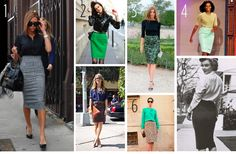 Pencil skirt style...I think below the knee is much more elegant and less blatant.  I guess V.Beck..thinks so too.