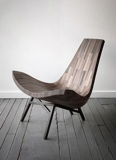 Reclaimed Timber Chair by BELLBOY (Wood reclaimed from a New York City Water Tower)