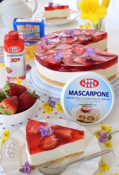 Polish Desserts, Cheesecake, Food And Drink, Pudding, Sweets, Recipes, Impreza, Meal, Mascarpone
