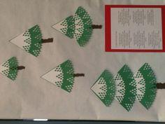 Christmas trees made with Martha Stewart circle edge punch.