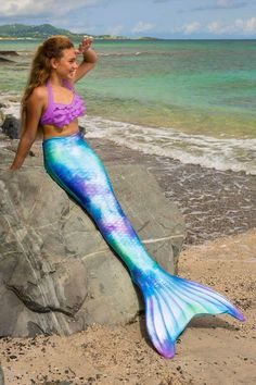 Get drawn into Fin Fun's swimmable mermaid tail of mint, sky blue, and violet—Watercolor Waves! Shop our Limited Edition mermaid tail for kids and adults! Mermaid Swim Tail, Girls Mermaid Tail, Mermaid Tails For Kids, Mermaid Swimsuit, Mermaid Outfit, Mermaid Tale, Mermaid Photo Shoot, Mermaid Photos, Monofin Mermaid Tail
