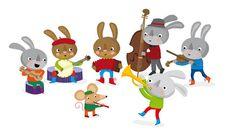 bluegrass rabbit band by Stella Baggott, via Flickr